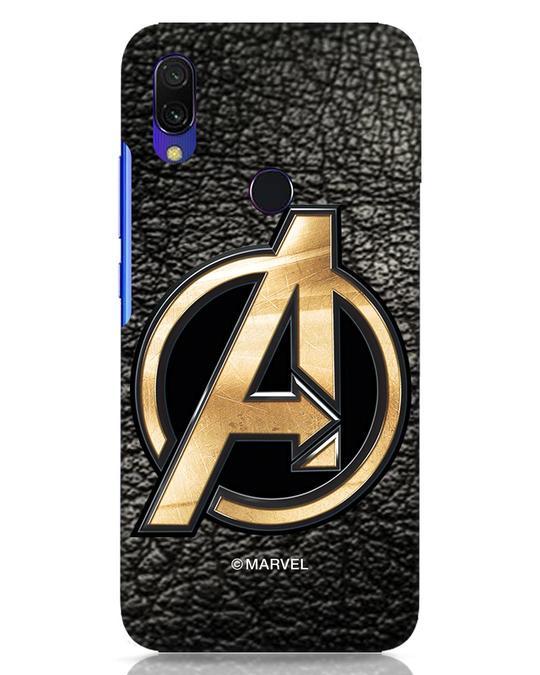 Shop Avengers Gold Logo Xiaomi Redmi Y3 Mobile Cover-Front