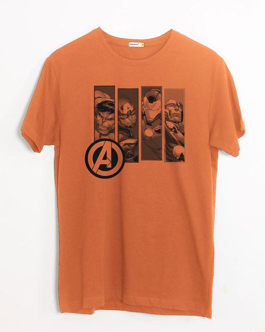 Shop Avengers Heroes Half Sleeve T-Shirt (AVL)-Front