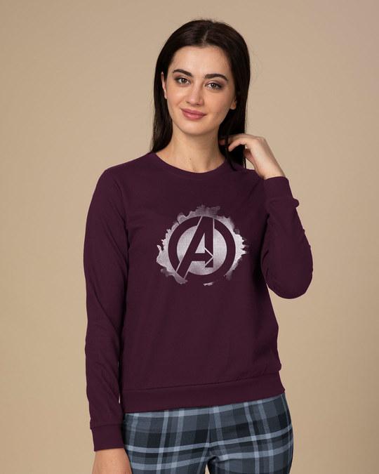 Shop Avengers Inked Sweatshirt (AVL)-Front