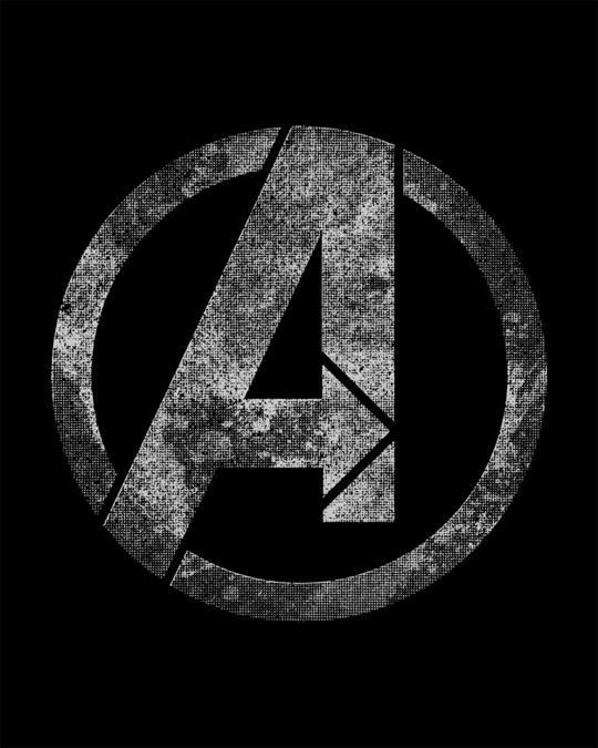 Shop Avengers Logo Distressed Boyfriend T-Shirt (AVL)