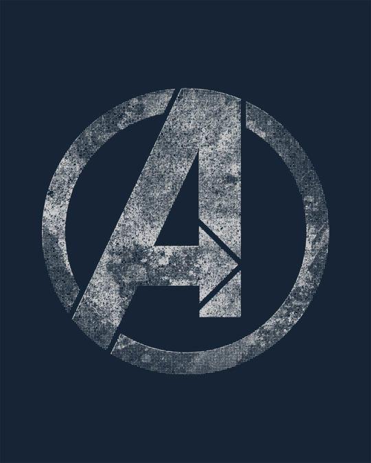 Shop Avengers Logo Distressed Half Sleeve T-Shirt (AVL)