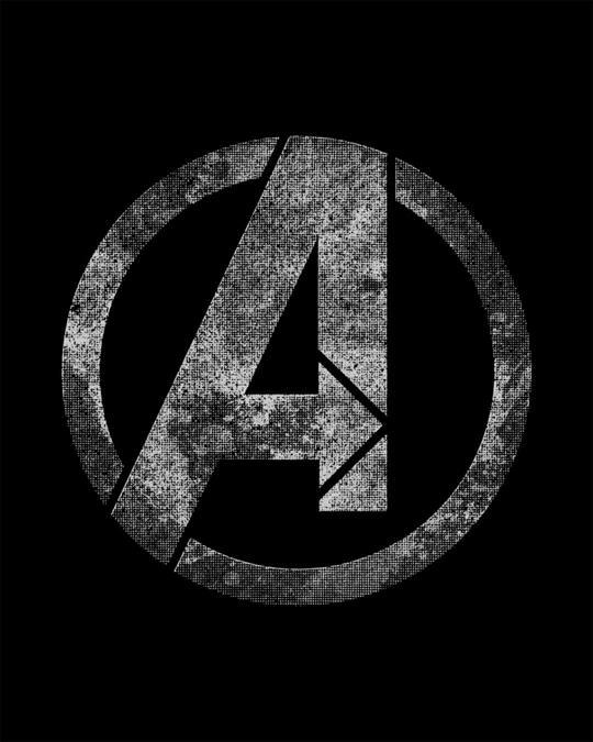 Shop Avengers Logo Distressed Round Neck 3/4th Sleeve T-Shirt (AVL)