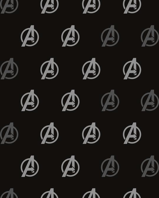 Shop Avengers Logo Only All Over Printed Pyjama (AVL)