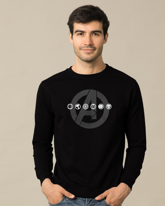 Shop Avengers Logo Unite Fleece Light Sweatshirt (AVL)-Front