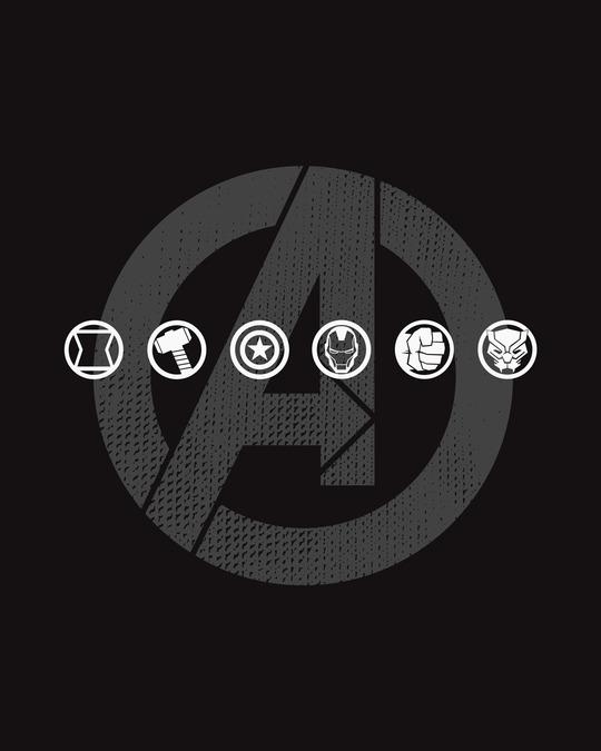 Shop Avengers Logo Unite Full Sleeve T-Shirt (AVL)-Full