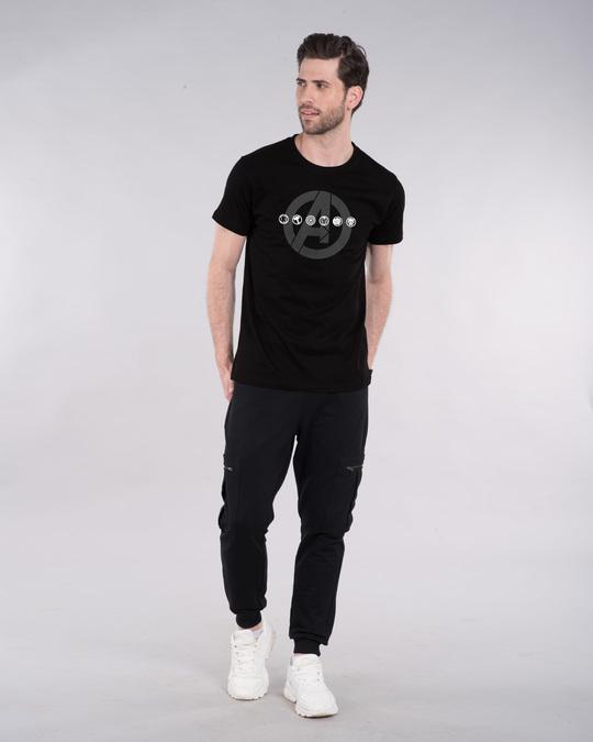 Shop Avengers Logo Unite Half Sleeve T-Shirt (AVL)-Design
