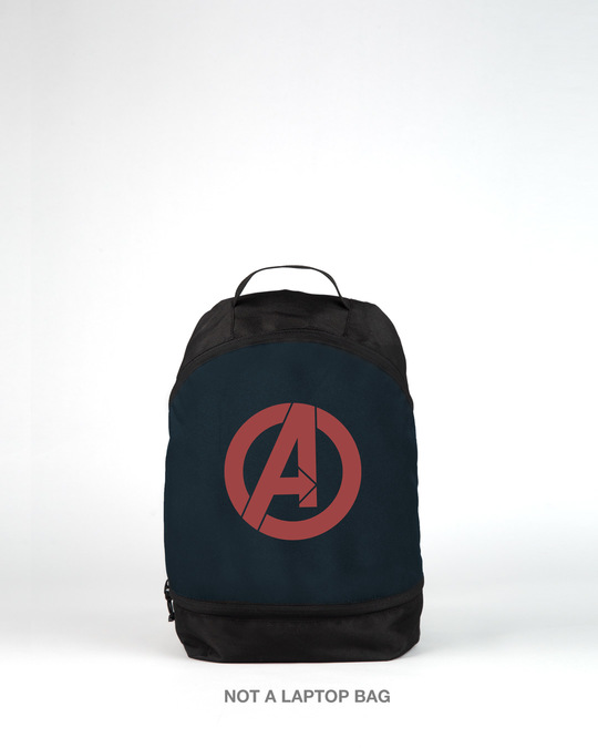 Shop Avengers Logos Small Backpack (AVL)-Front
