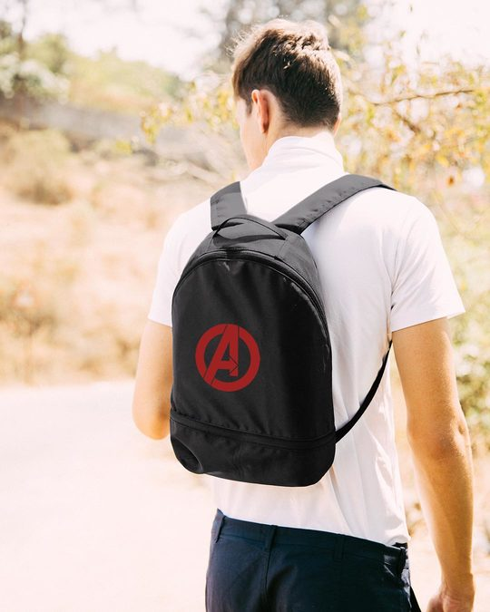 Shop Avengers Logos Essential mini Backpack (AVL)