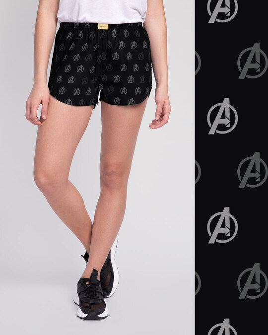 Shop Avengers Only All Over Printed Boxer-Front