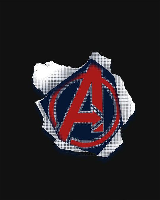 Shop Avengers Paper Boyfriend T-Shirt (AVL)