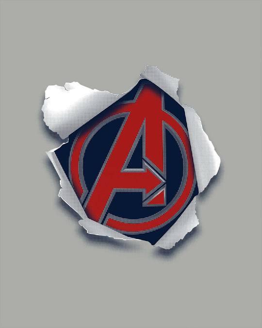 Shop Avengers Paper Half Sleeve T-Shirt (AVL)-Full