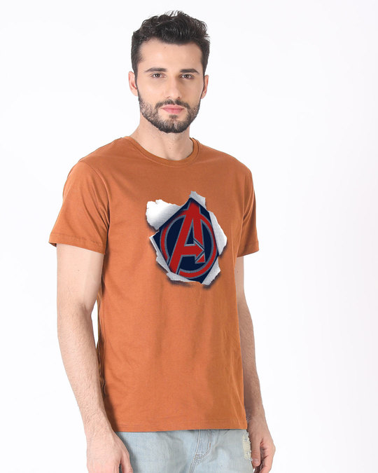 Shop Avengers Paper Half Sleeve T-Shirt (AVL)-Full