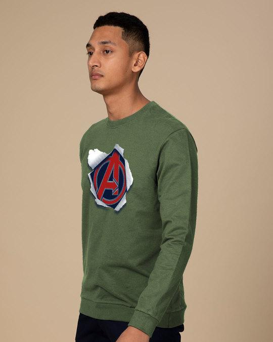 Shop Avengers Paper Sweatshirt (AVL)-Back