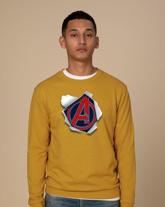 Shop Avengers Paper Sweatshirt (AVL)-Front