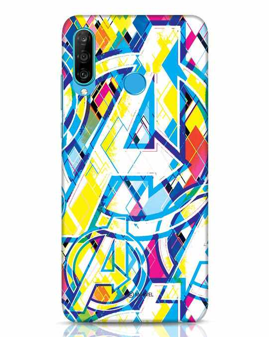 Shop Avengers Pop Huawei P30 Lite Mobile Cover (AVL)-Front
