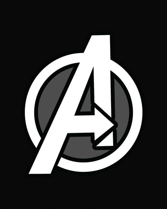 Shop Avengers Printed Badge Boyfriend T-Shirt (AVL)