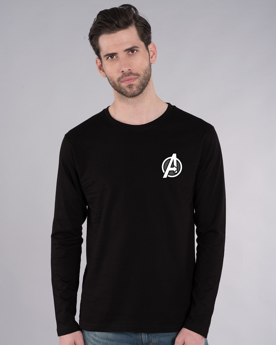 Shop Avengers Printed Badge Full Sleeve T-Shirt (AVL)-Back