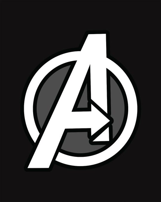 Shop Avengers Printed Badge Full Sleeve T-Shirt (AVL)