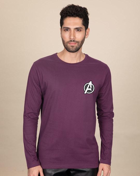 Shop Avengers Printed Badge Full Sleeve T-Shirt (AVL)-Back