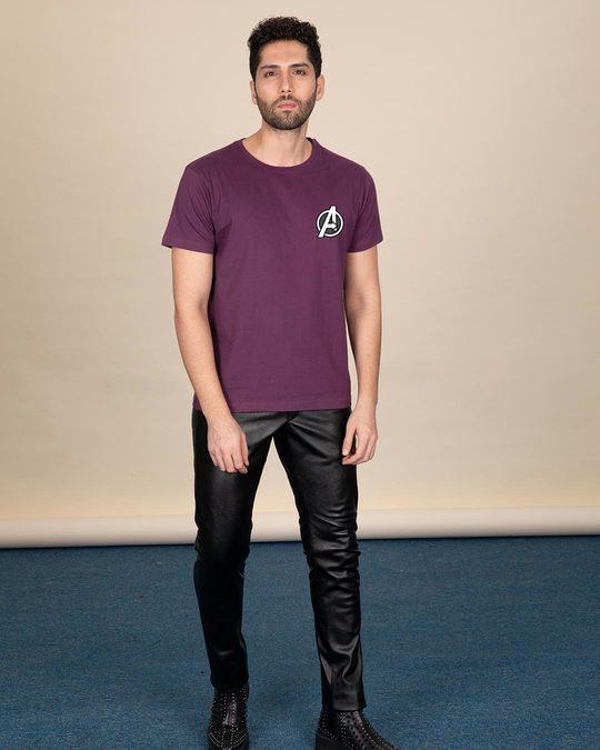 Shop Avengers Printed Badge Half Sleeve T-Shirt (AVL)-Full