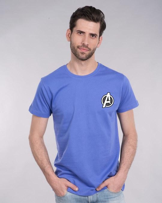 Shop Avengers Printed Badge Half Sleeve T-Shirt (AVL)-Back