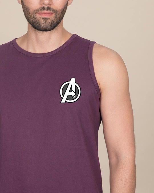 Shop Avengers Printed Badge Vest (AVL)-Front