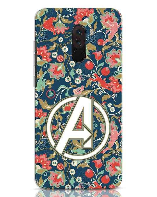 Shop Avengers Sketch Xiaomi POCO F1 Mobile Cover (AVL)-Front