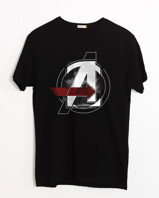 Shop Avengers Stylised Half Sleeve T-Shirt (AVL)-Front