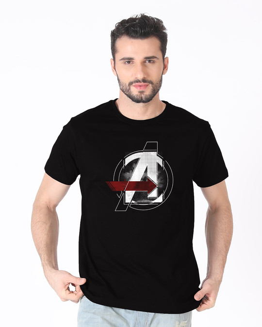 Shop Avengers Stylised Half Sleeve T-Shirt (AVL)-Back