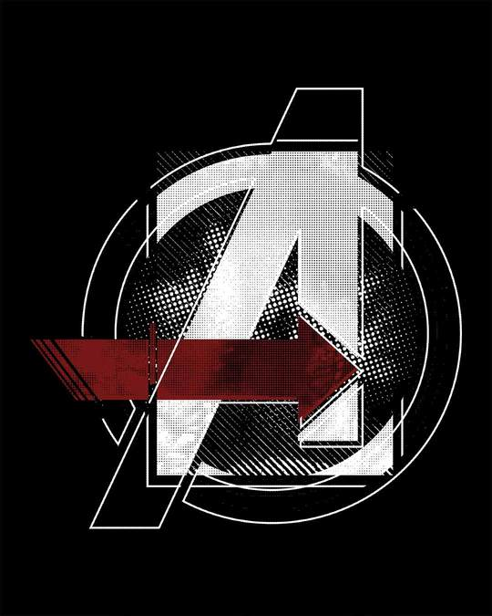 Shop Avengers Stylised Half Sleeve T-Shirt (AVL)