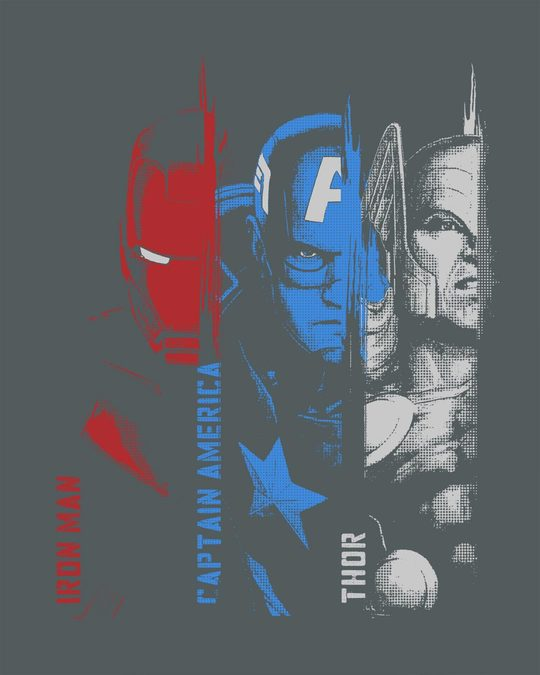 Shop Avengers Trio Full Sleeve T-Shirt (AVL)