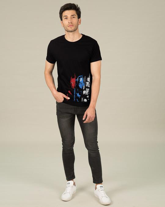 Shop Avengers Trio Half Sleeve T-Shirt (AVL)-Design