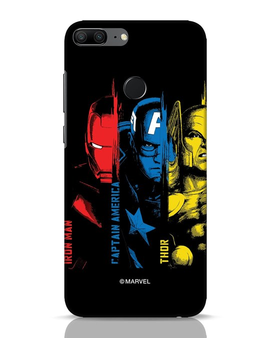 Shop Avengers Trio Huawei Honor 9 Lite Mobile Cover (AVL)-Front