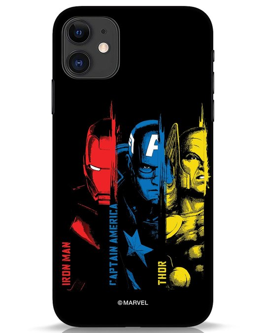 Shop Avengers Trio iPhone 11 Mobile Cover (AVL)-Front