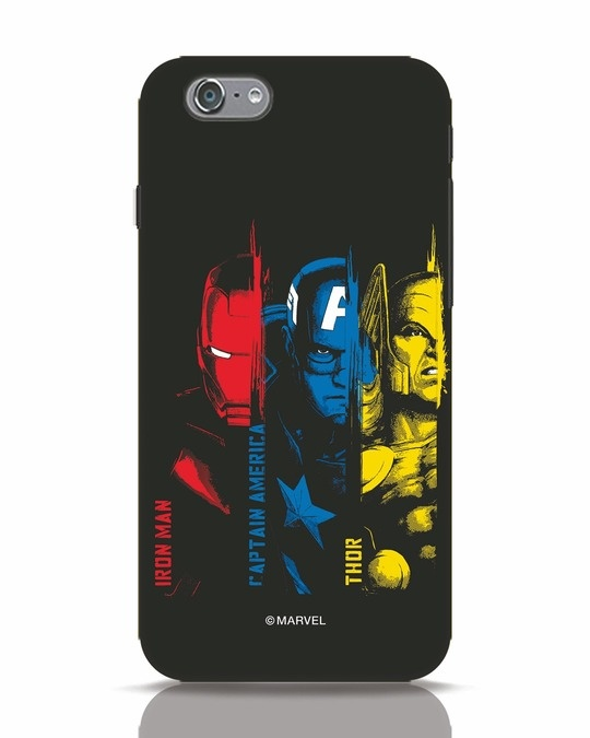 Shop Avengers Trio iPhone 6 Mobile Cover (AVL)-Front
