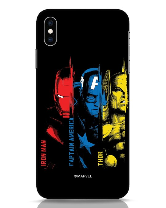 Shop Avengers Trio iPhone XS Max Mobile Cover (AVL)-Front