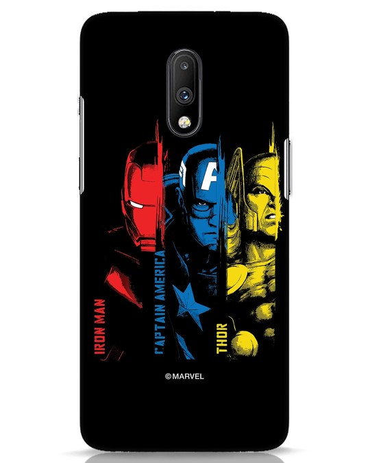 Shop Avengers Trio OnePlus 7 Mobile Cover (AVL)-Front