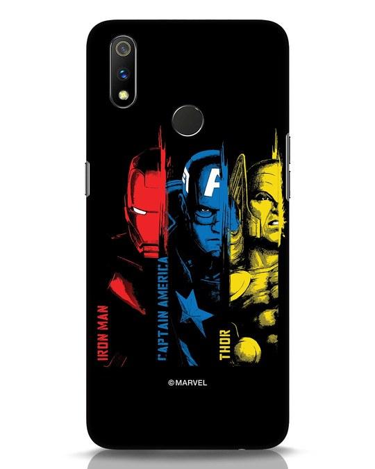 Shop Avengers Trio Realme 3 Pro Mobile Cover (AVL)-Front