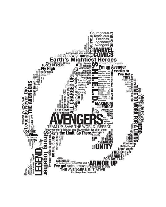 Shop Avengers Typo Men's Printed Full Sleeve T-Shirt