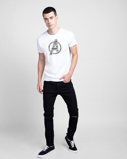 Shop Avengers Typo Men's Printed T-Shirts-Design