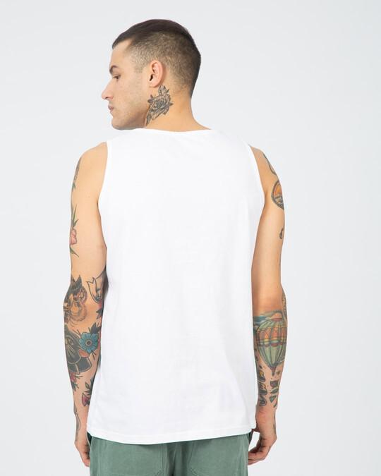 Shop Avengers Varsity Round Neck Vest White (AVL)-Back