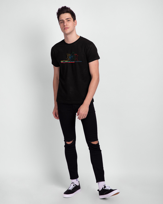 Shop AVG Hereos Outline Half Sleeve T-shirt (AVL) Black-Full