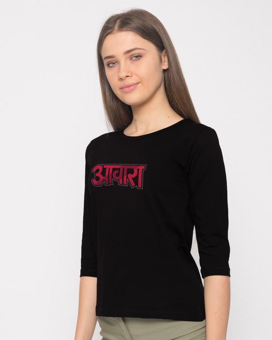 Shop Awara Round Neck 3/4th Sleeve T-Shirt-Back