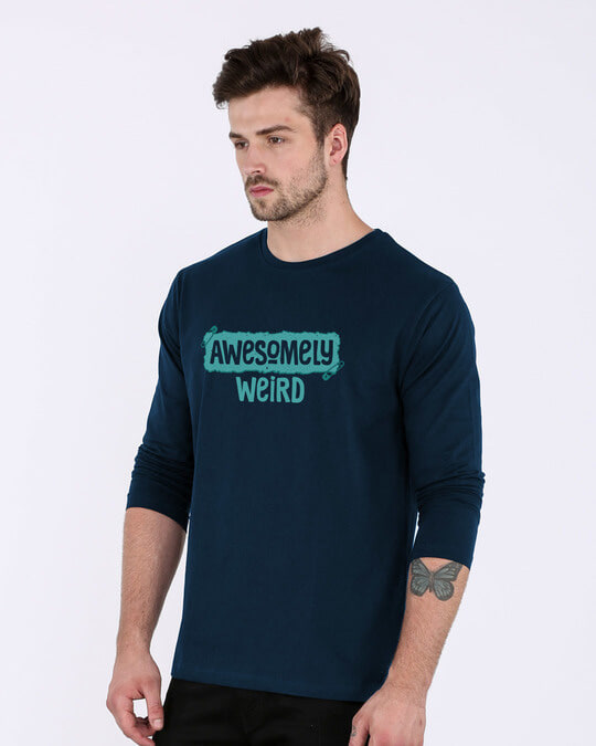 Shop Awesome And Weird Full Sleeve T-Shirt-Back