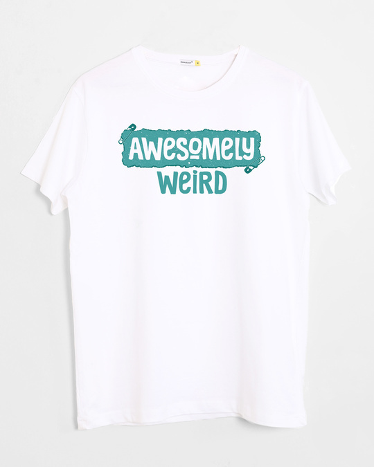 Shop Awesome And Weird Half Sleeve T-Shirt-Front