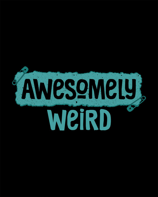 Shop Awesome And Weird Round Neck 3/4th Sleeve T-Shirt
