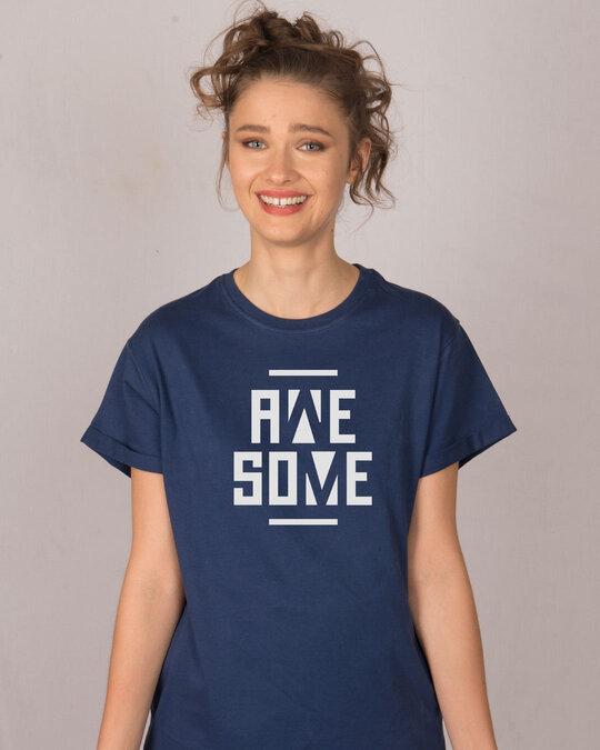 Shop Awesome Negative Boyfriend T-Shirt-Front