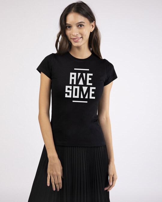 Shop Awesome Negative Half Sleeve T-Shirt-Design