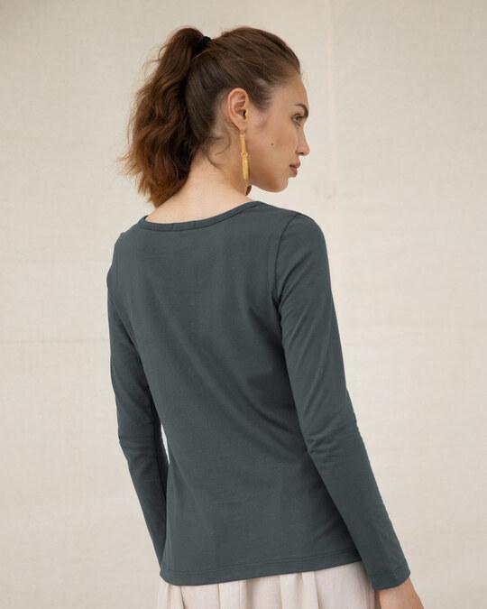 Shop Awesome Negative Scoop Neck Full Sleeve T-Shirt-Back