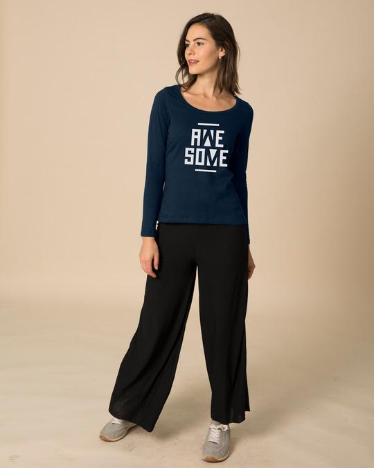 Shop Awesome Negative Scoop Neck Full Sleeve T-Shirt-Design